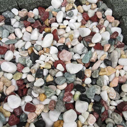 玉石砂利 1-2cm 800kg 五色砂利