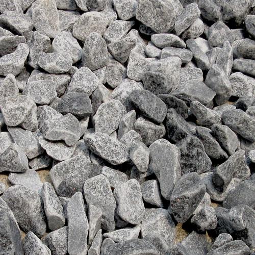 砕石砂利 3-4cm 800kg スレートグレー