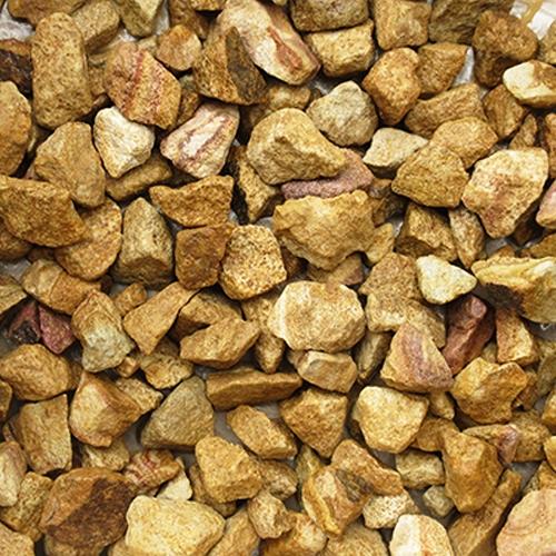 砕石砂利 1-2cm 20kg マーブルイエロー