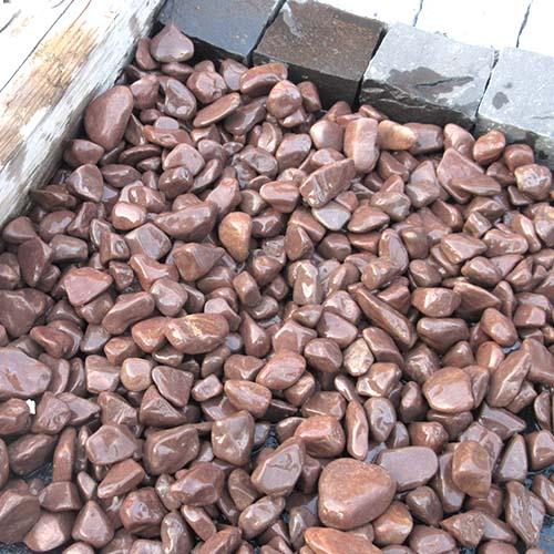 玉石砂利 1-2cm 800kg チョコレート