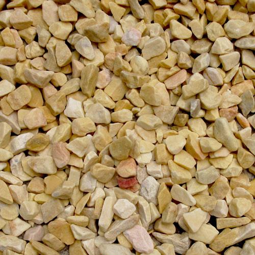 砕石砂利 1-2cm 60kg ハニーイエロー