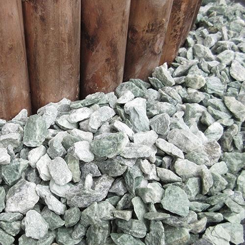 砕石砂利 1-2cm 500kg アイスグリーン