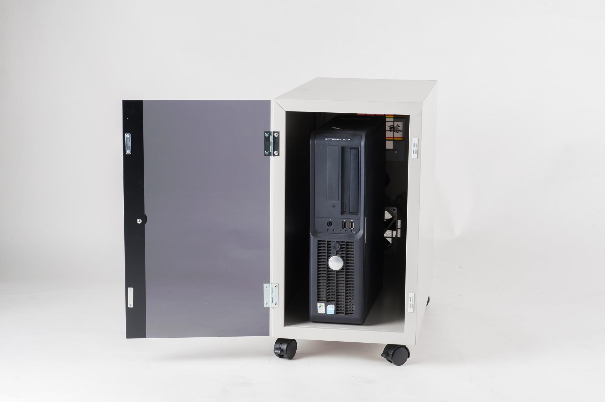 防塵ラック Tidy Box CPU W5 ライトグレー