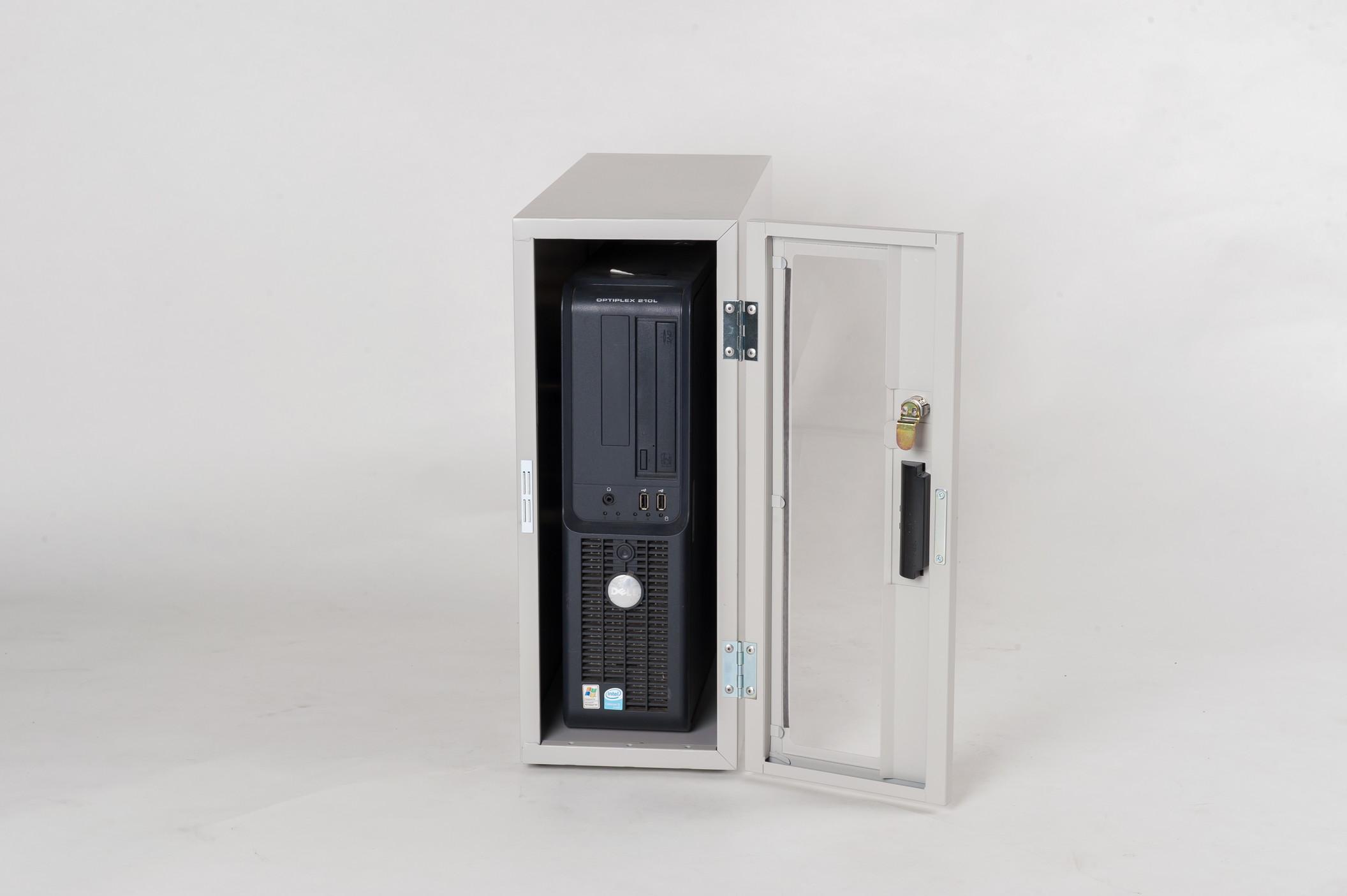 防塵ラック Tidy Box CPU 3UW ライトグレー