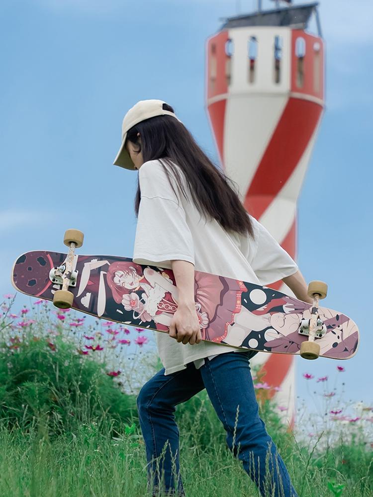 【送料無料】NOTHOME 不在家 兎 コンプリートデッキ ロングスケートボード ロンスケ ロング ボード 入荷待ち