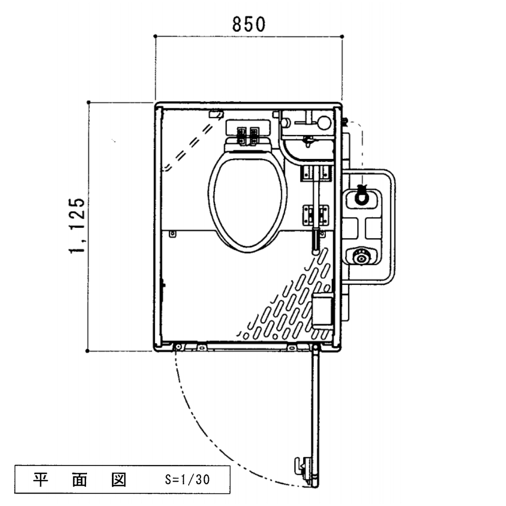 【送料無料】日野興業 車載仮設トイレ GT-QTLH 簡易水洗式 樹脂製 洋式便器 手洗器つき NETIS 登録品 今ならビール1ケースをプレゼント