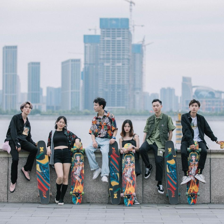 【送料無料】NOTHOME 不在家 X AFA LONGBOARD 夜叉 コンプリートデッキ ロングスケートボード ロンスケ ロングボード 在庫あり