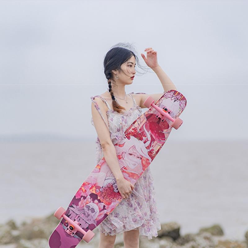 【送料無料】NOTHOME 骨女 コンプリートデッキ ロングスケートボード ロンスケ ロングボード 在庫あり