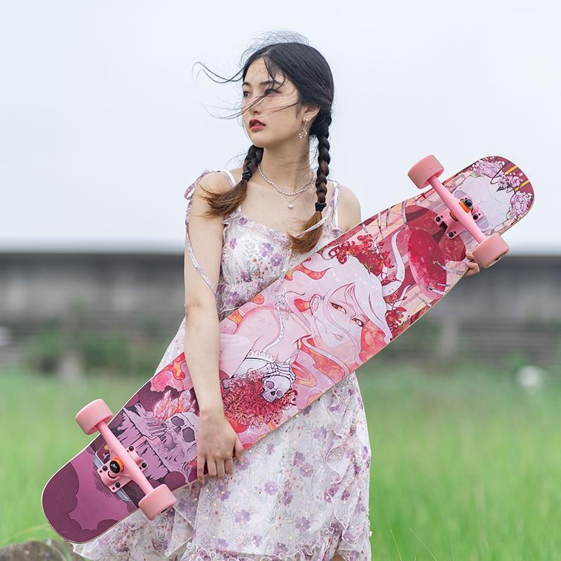 【送料無料】NOTHOME 不在家 骨女 コンプリートデッキ ロングスケートボード ロンスケ ロングボード 入荷マチ