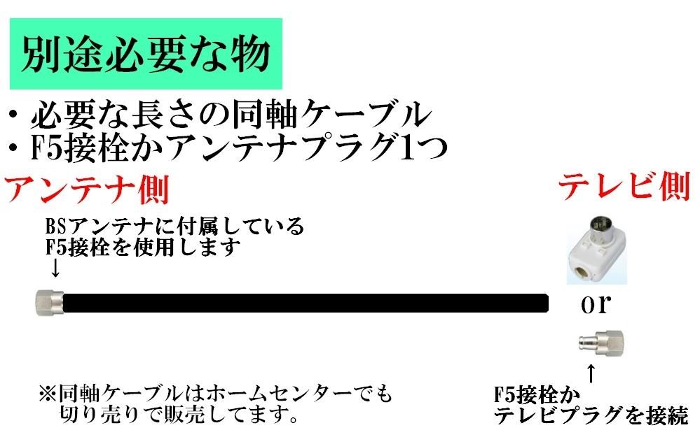 【送料無料】室内用 BSアンテナセット BC45RL 4K・8K対応