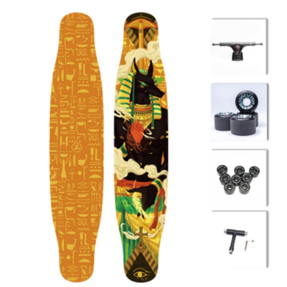 【送料無料】NOTHOME 不在家 アヌビス コンプリートデッキ ロングスケートボード ロンスケ ロングボード 大人気商品 入荷しました!