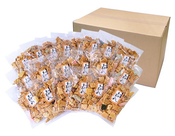 【送料無料】割れあられ20袋ケース入 醤油・素焼き味