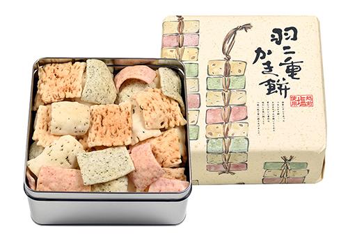 福井県産もち米使用 羽二重かき餅(中缶)