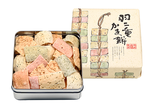 福井県産もち米使用 羽二重かき餅(小缶)
