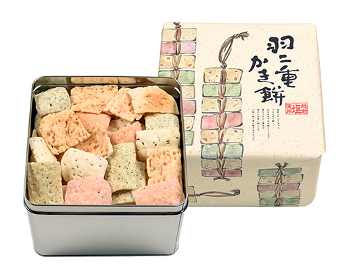 【12/15まで宅配無料】 福井県産もち米使用 羽二重かき餅(大缶)