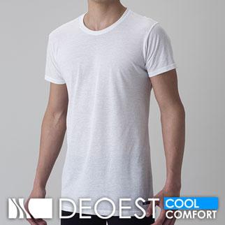 【COOL】[デオエスト(DEOEST)] Men's 消臭アンダーシャツ・綿涼感(丸首)[型番:IDT24]