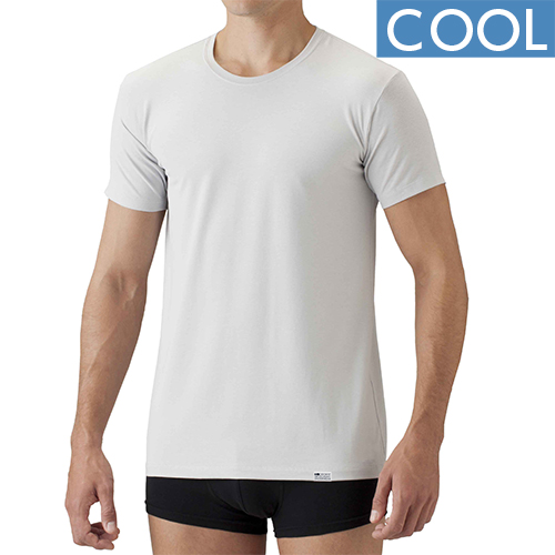 【COOL】[デオエスト(DEOEST)] Men's 消臭アンダーシャツ丸首(涼感)[型番:IDT64]