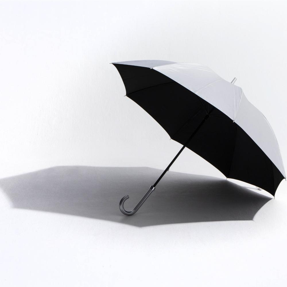【日傘・晴雨兼用・長傘】【遮熱遮光(UVCUT99%)/シルバーコーティング無地】銀行員の日傘65cm(親骨65cm)|ブランド:Waterfront(ウォーターフロント)