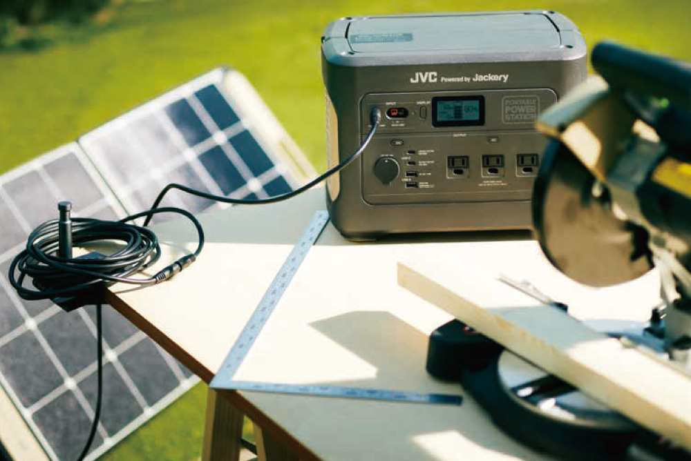 JVCポータブル電源BN-RB62-C(容量626Wh/DC出力口3/AC出力口2/USB出力口3)| わかりやすい日本語表記・たっぷり使えて安心。多目的な万能型