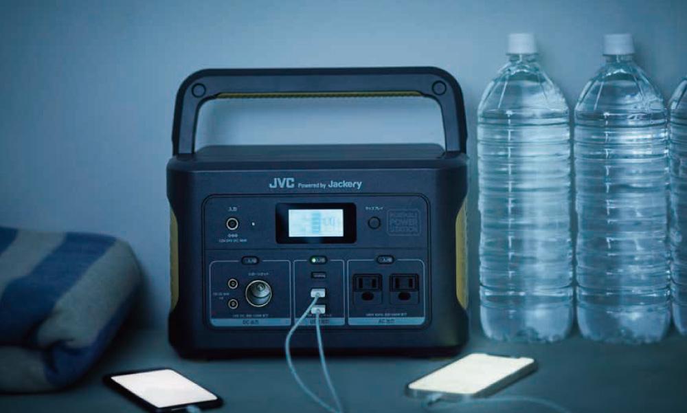 JVCポータブル電源BN-RB37-C(容量375Wh/DC出力口1/AC出力口1/USB出力口2)| わかりやすい日本語表記・初めての方にも使いやすい片手で持ち運べる軽量&コンパクトサイズ
