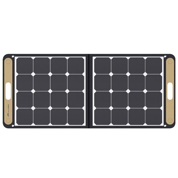 JVCポータブルソーラーパネルBH-SP100-C| BN-RBシリーズに対応したポータブルソーラーパネル。ソーラーパネルを使えば太陽光でポータブル電源を充電。 ソーラーパネル(USB端子付き)から 直接スマートフォンやUSB機器を 充電・給電することも可能
