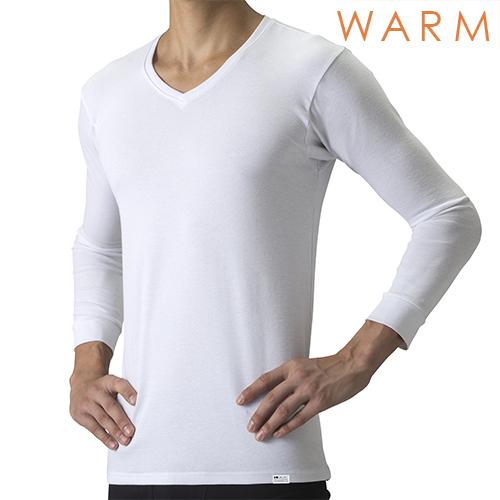 【温】[デオエスト・ウォーム(DEOEST WARM)] Men's 消臭アンダーシャツ・Vネック(8分袖)[型番:IDA76]