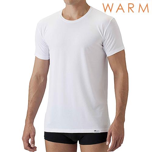 【温】[デオエスト・ウォーム(DEOEST WARM)] Men's 消臭アンダーシャツ・クルーネック(半袖)[型番:IDT75]