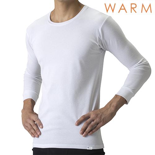 【温】[デオエスト・ウォーム(DEOEST WARM)] Men's 消臭アンダーシャツ・クルーネック(8分袖)[型番:IDT76]