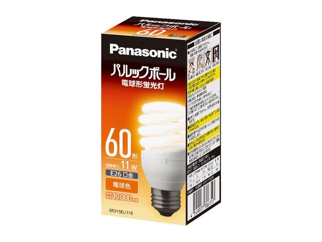 パナソニック EFD15EL11E パルックボール 電球形蛍光灯 電球色 60w相当 E26口金