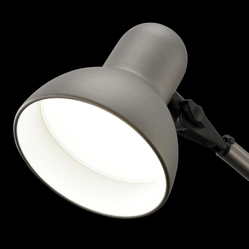 オーム電機 AS-LS20B-H クランプ式LEDアームライト(昼白色/グレー)<06-3728>