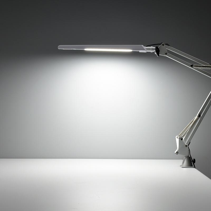 オーム電機 AS-LS28B-W クランプ式LEDアームライト(昼白色/ホワイト)(06-3723)