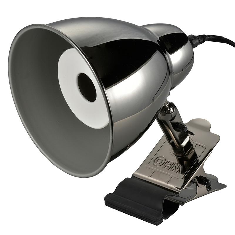 オーム電機 LTC-W1BW 防雨型クリップライト(E26/スチール/高さ240mm)【電球別売】(06-0849)