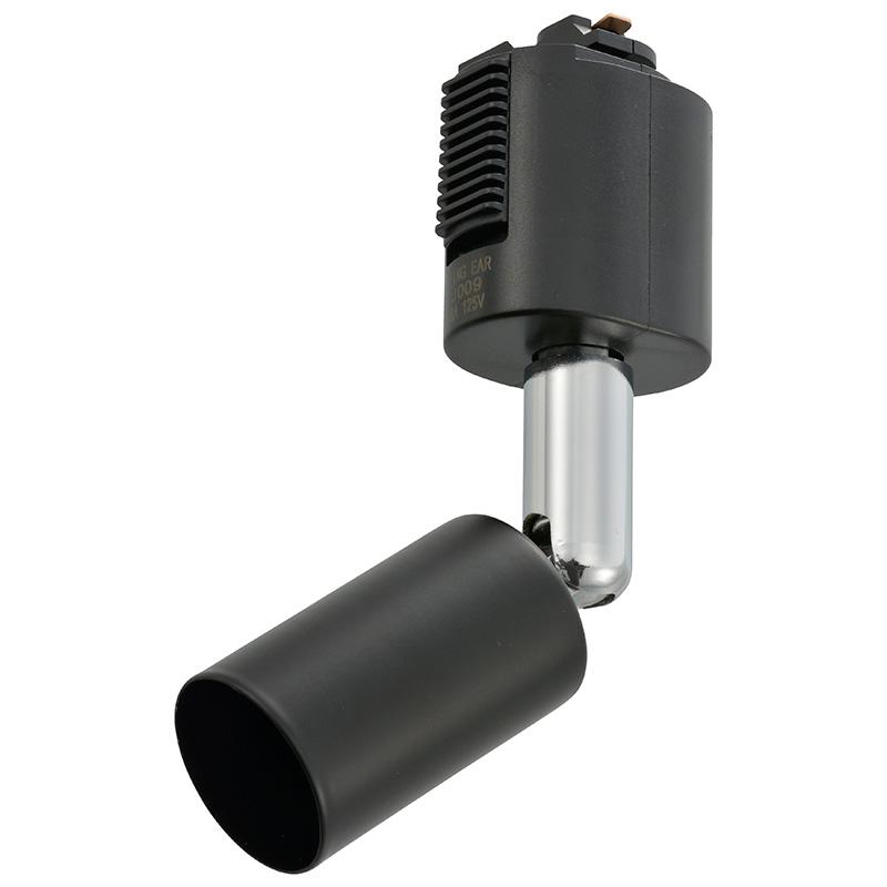オーム電機 RL-N11SAW-K ライティングレール/専用スポットライト(口金E11/アーム長92mm/ブラック)(06-0802)