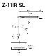 山田照明 Z-ライト(Z-LIGHT)Z-11RSL(Z-11R SL) シルバー LEDデスクスタンド