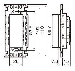 WN1302 フルカラー埋込ダブルコンセント ナショナル