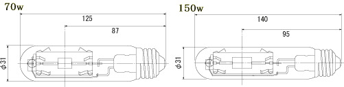 フィリップス(PHILIPS) マスターカラー CDM-TP 70W/830<三重管タイプ E26口金 高効率セラミックメタルハライドランプ・クリア>