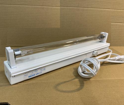 15W殺菌ランプ(GL15)付蛍光灯器具セット・コンセント加工済み(151-C1 トラフ形器具1灯用+殺菌灯GL15)