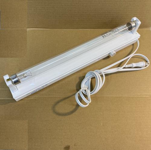 20W殺菌ランプ(GL20)付蛍光灯器具セット・コンセント加工済み(201-C1 トラフ形器具1灯用+殺菌灯GL20)