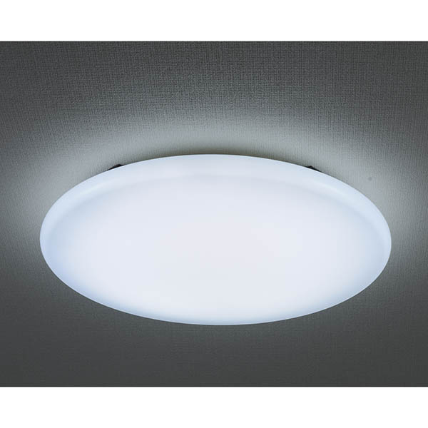オーム電機 LE-Y37D8G-W3 LEDミドルサイズシーリングライト(45cm/8畳用/昼光色)