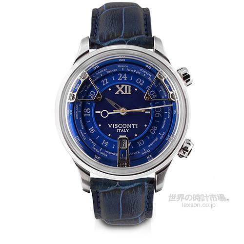 ヴィスコンティ VISCONTI KW23-13 オペラ GMT ブルー (トリプルタイムゾーン)
