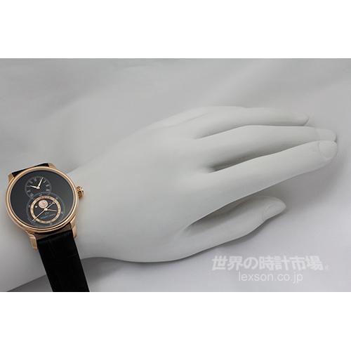 ジャケドロー J007533201 グランド・セコンド  ムーン ブラックエナメル