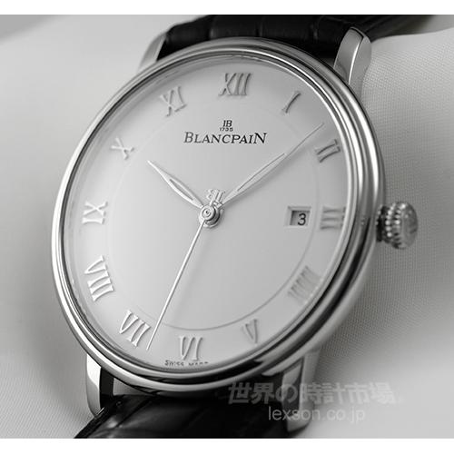 ブランパン 6651-1127-55B ヴィルレ・ウルトラスリム・セコンドハンドデイト