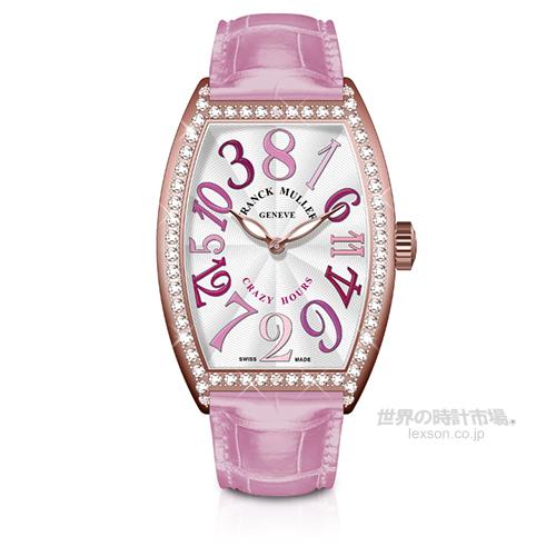 フランクミュラー 5850 CH II  D 1R 5N トノウカーベックス クレイジーアワーズ II トーンズ パステルズ ダイヤモンド (ピンク) 世界限定28本
