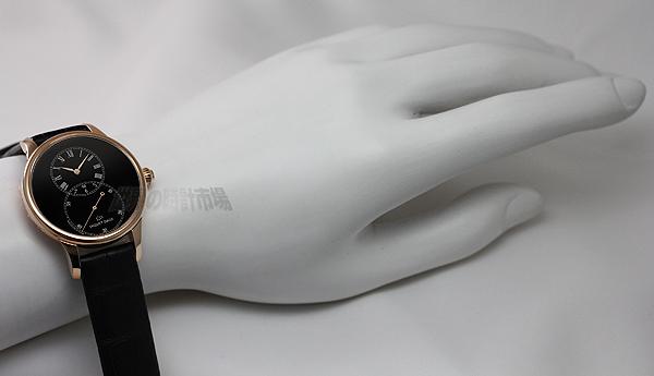 ジャケドロー J014013200 グラン・セコンド・39MM・ブラックエナメル
