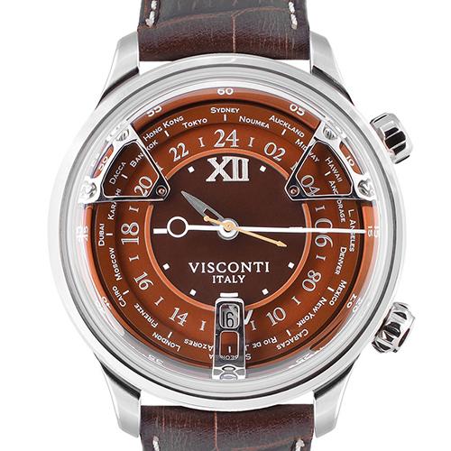 ヴィスコンティ VISCONTI KW23-12 オペラ GMT オレンジ (トリプルタイムゾーン)