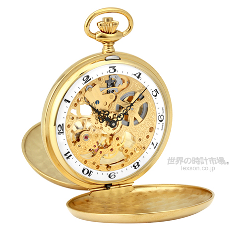 エポス 懐中時計(ポケットウォッチ)  2078YGWHA 2078シリーズ(ダブルハンター・スケルトン)
