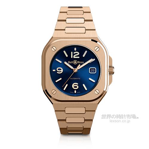 ベル&ロス BR05A-BLU-PG/SPG BR 05 ブルー ゴールド