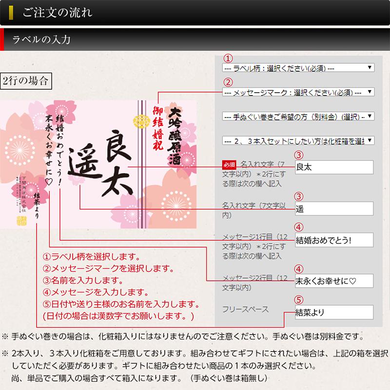 木箱入り!超特撰 関娘 大吟醸原酒【名入れ】1800ml(季節限定ラベル・桜)