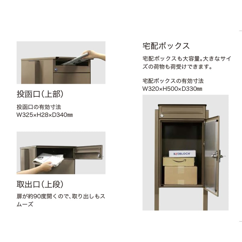 【半額】ノボックス ブルー(宅配ポスト) アウトレット