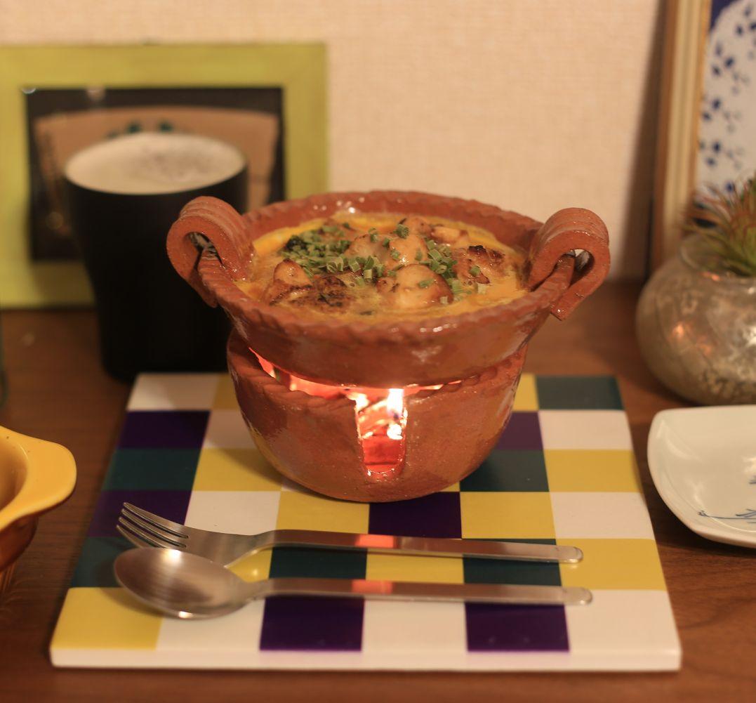 アヒージョ鍋とトリペットセット(キャンドルベース付)